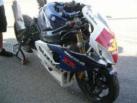 The bike after the crash at Assen