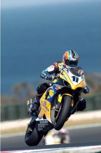 Corser unicycles the GSXR