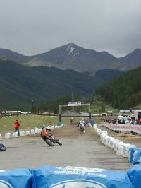 Supermoto racing at Copper Mountain