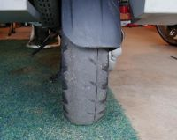 Worn out rear tire on the GS