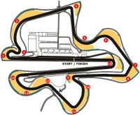Sepang Circuit track map