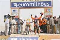 Marc Coma on the Dakar podium